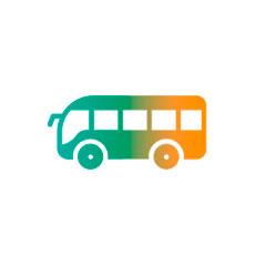 viajes en grupo reservar bus icono